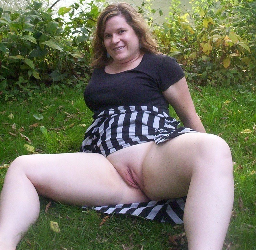 Mature outdoor masturbation